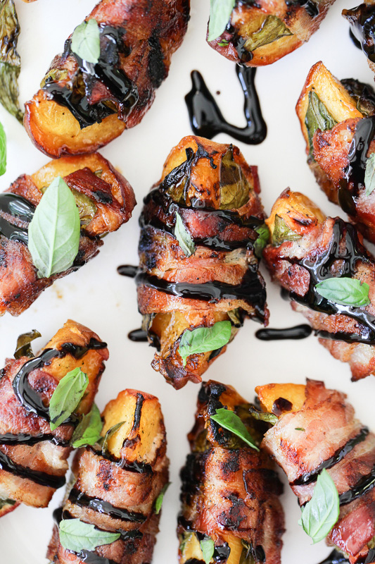 Tom's Bacon Wrapped Grilled Peaches