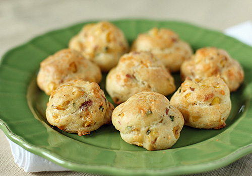 Tom's Bacon and Corn Gougères