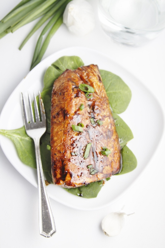 Tom's Balsamic and Raisin Glazed Salmon