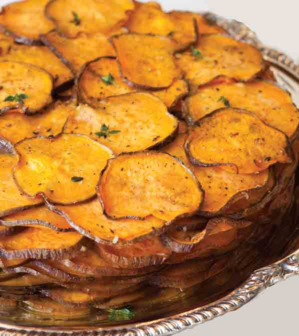 Grandma Celia's Maple Balsamic Sweet Potato Gratin