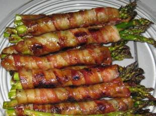 Mama Celia's Bacon Wrapped Asparagus