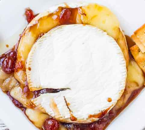 Balsamic Cherry Baked Brie