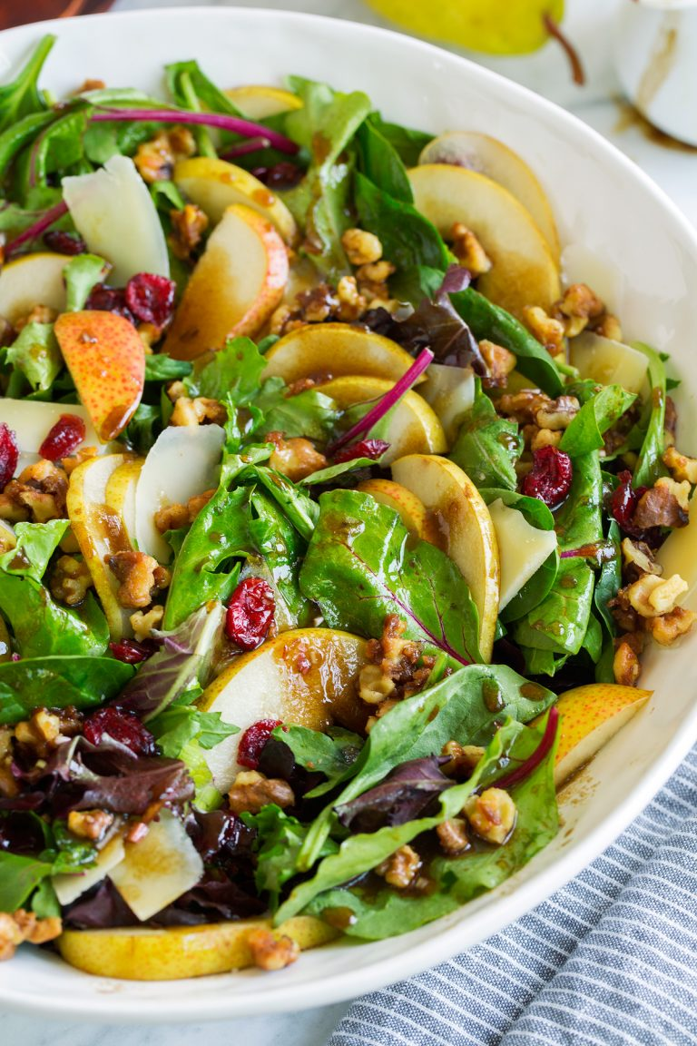 Tom's Pear Salad with Candied Walnuts and Balsamic Vinaigrette