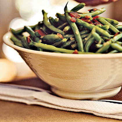 Tom's Bacon-Balsamic Green Beans