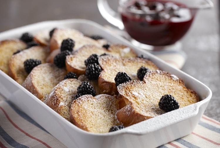 Tom's Blackberry French Toast Soufflé