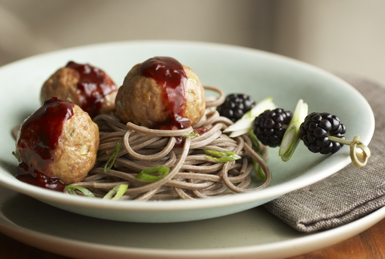 Tom's Meatballs with Blackberry Hoisin Sauce