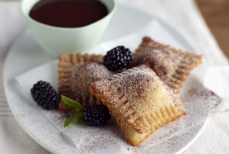 Blackberry Ravioli with Chocolate Fondue