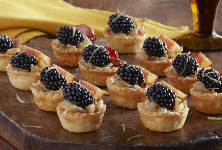 Tom's Caramelized Onion Blackberry Tartlets