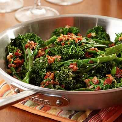 Tom's Broccoli with Pancetta & Balsamic Glaze