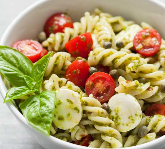 Tom's Caprese Pesto Pasta Salad