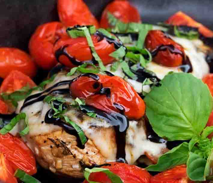 Mama Celia's Garlic Caprese Chicken