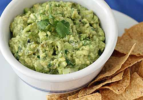 Tom's Tomatillo and Poblano Guacamole