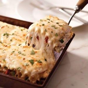Mama Celia's Creamy White Chicken Alfredo Lasagna