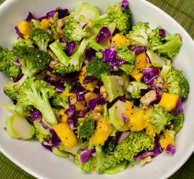 Tom's Broccoli Mango Salad with Lemon Poppy Seed Dressing