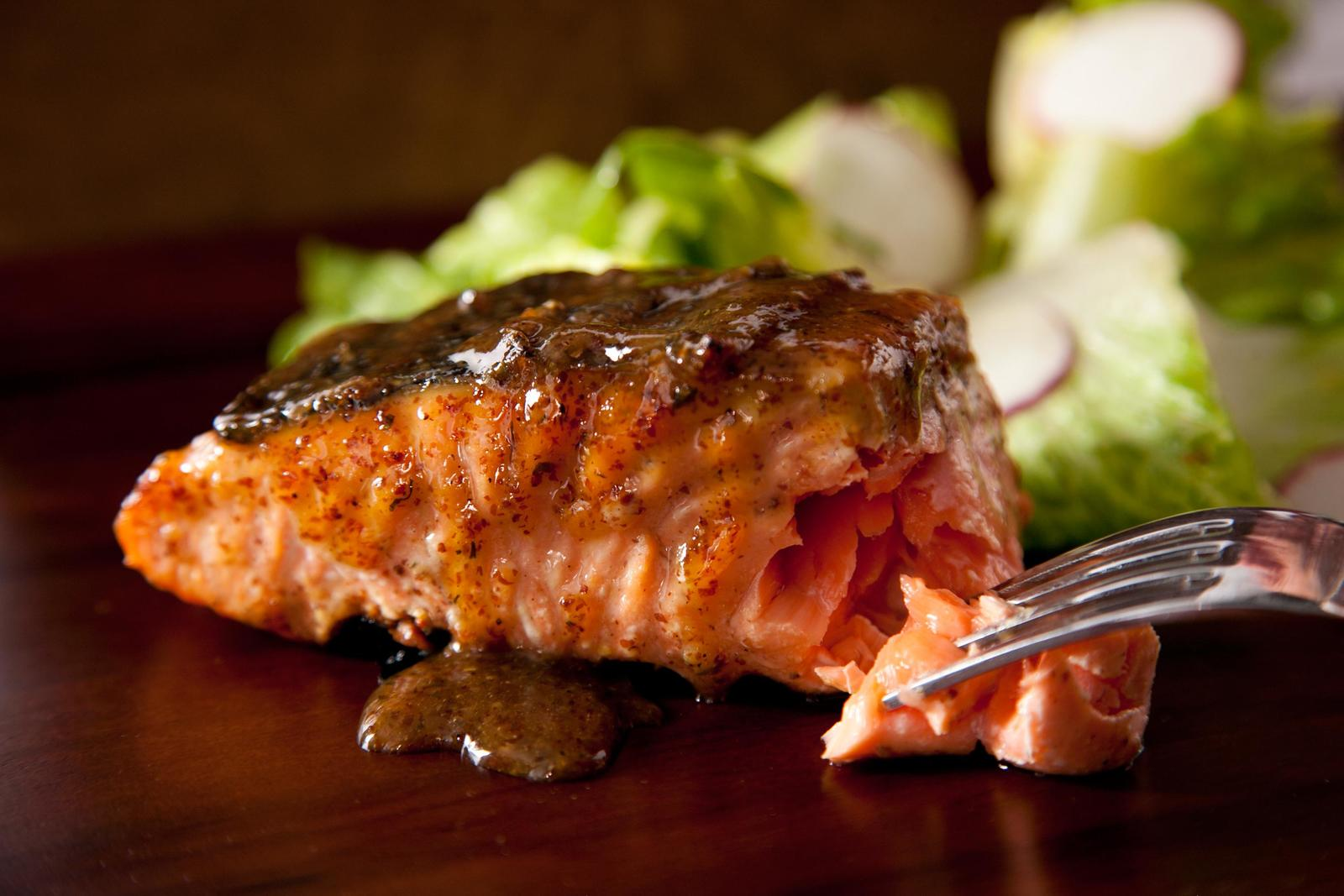 Tom's Maple Balsamic Glazed Grilled Salmon
