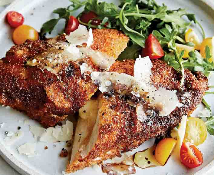 Celia's Cheesy Chicken Milanese