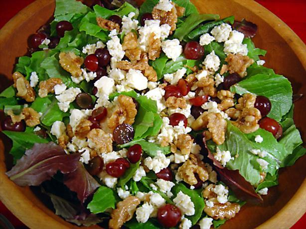 Tom's Candied Walnut and Grape Salad