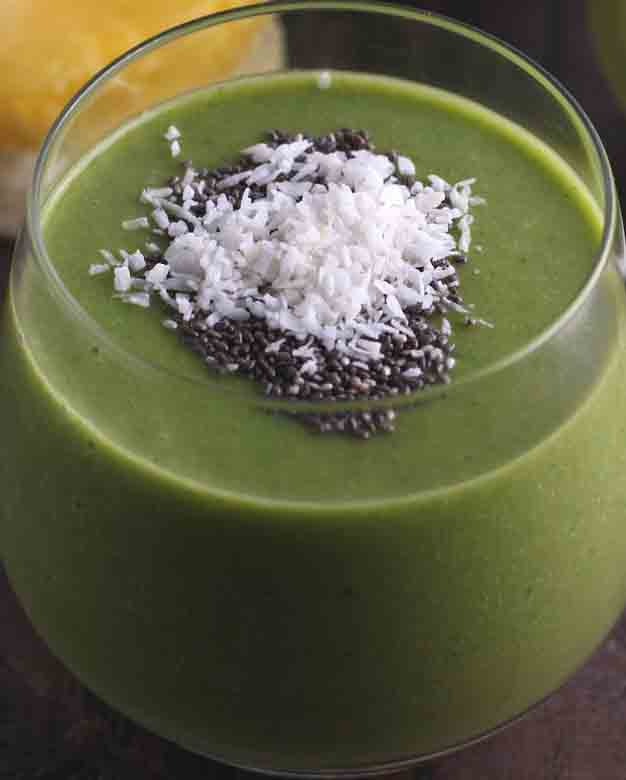 Tom's Pineapple Coconut Chard Smoothie