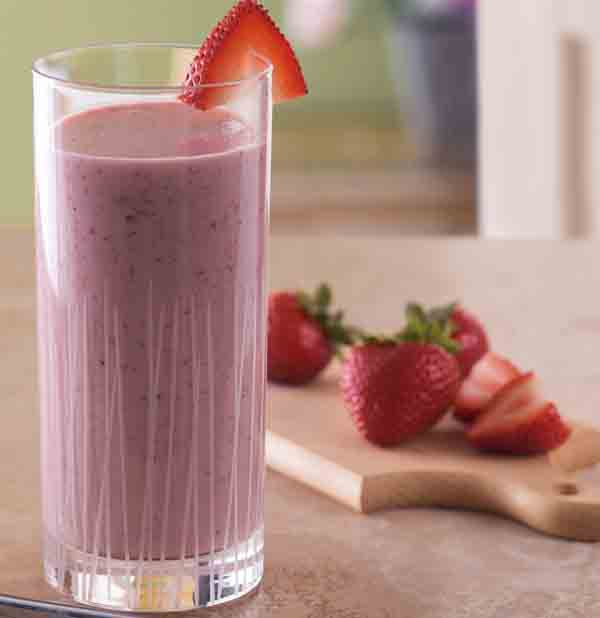 Tom's Pomegranate Strawberry Smoothie