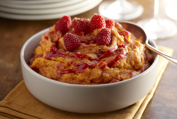 Tom's Whipped Sweet Potatoes with Raspberry Swirl