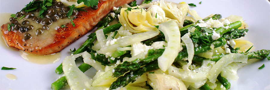 Tom's Lemon Artichoke, Asparagus & Fennel Salad