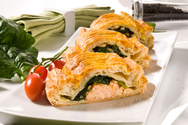 Tom's Salmon & Spinach Puffs
