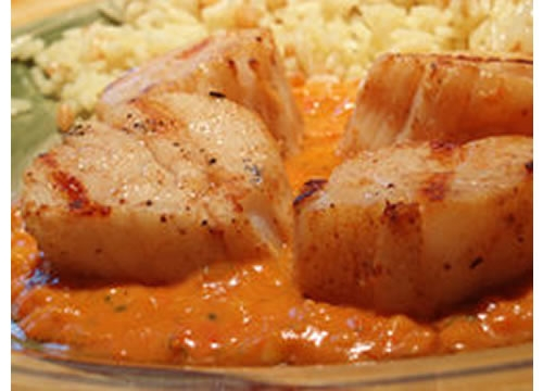 Tom's Tomato Ginger Scallops