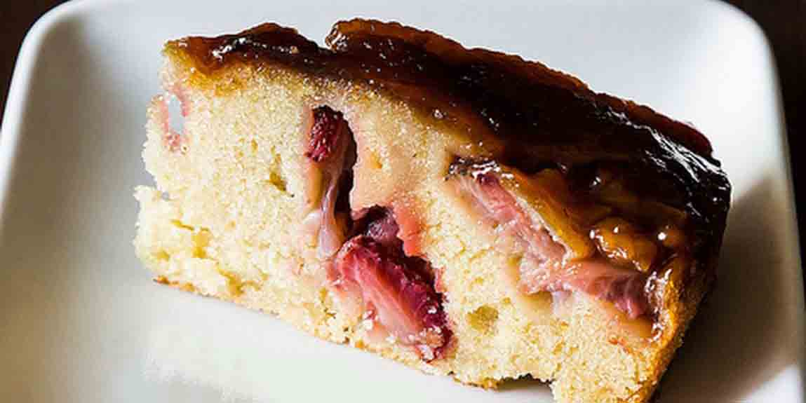 Tom's Upside Down Strawberry Balsamic Cake